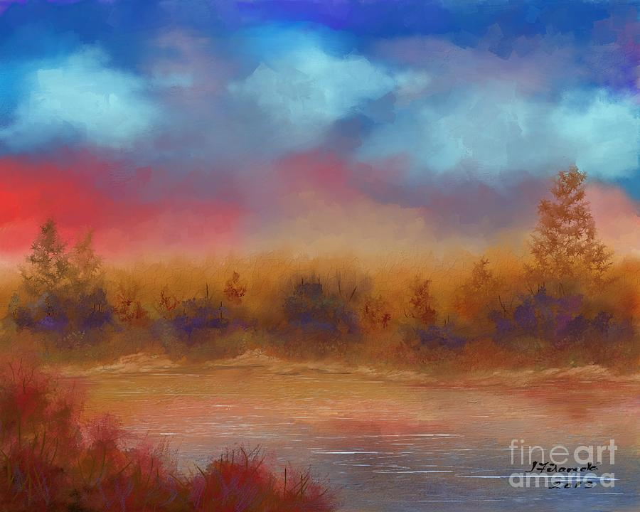 Wildfire Painting - Wildfire Fire In The Sky by Judy Filarecki