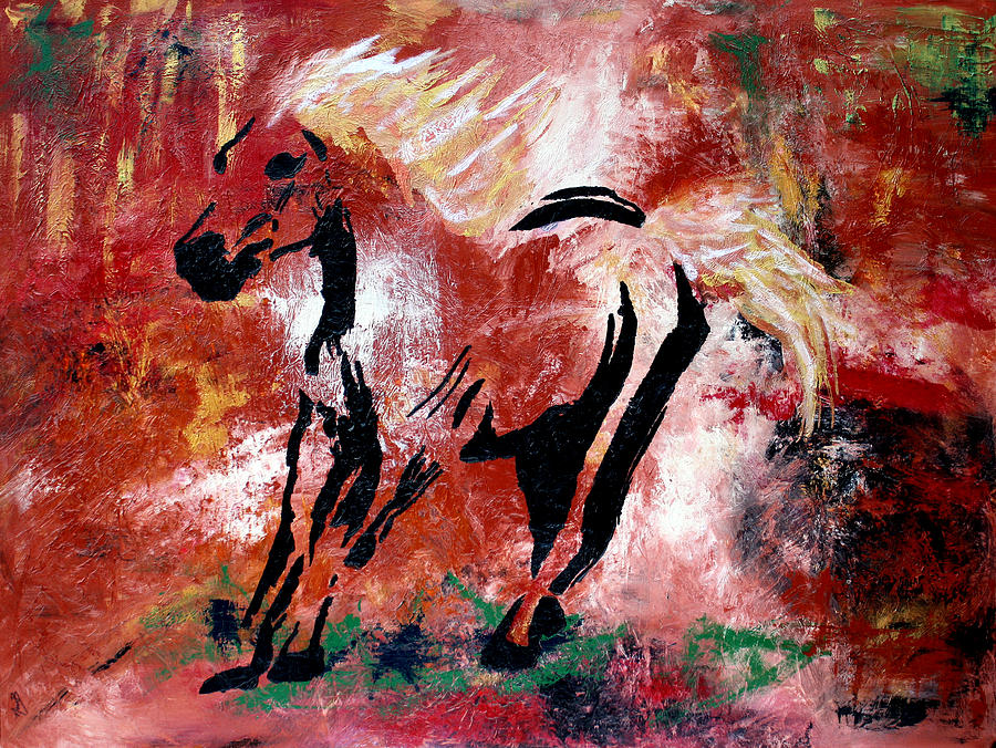 Horse Painting - Wildfire by Nan Bilden