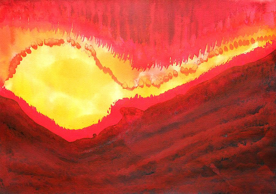 Fire Painting - Wildfire original painting by Sol Luckman