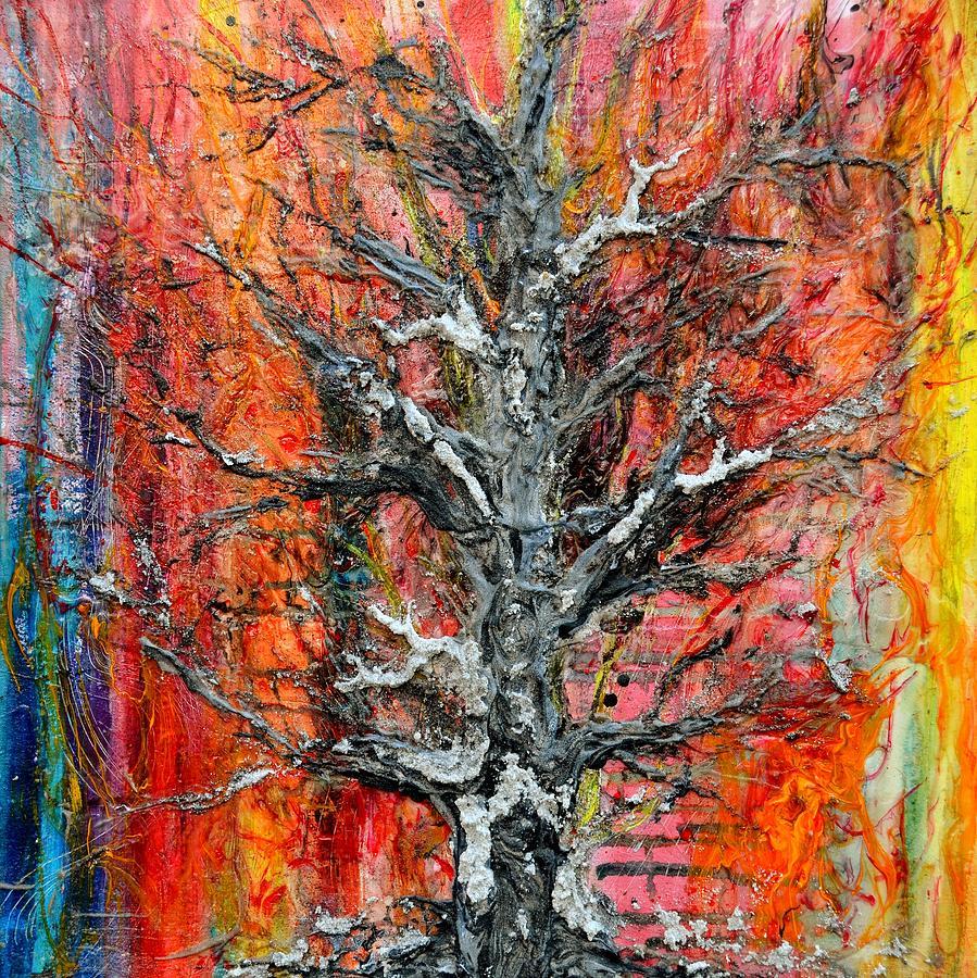 Tree Painting - Wildfire by Regina Valluzzi