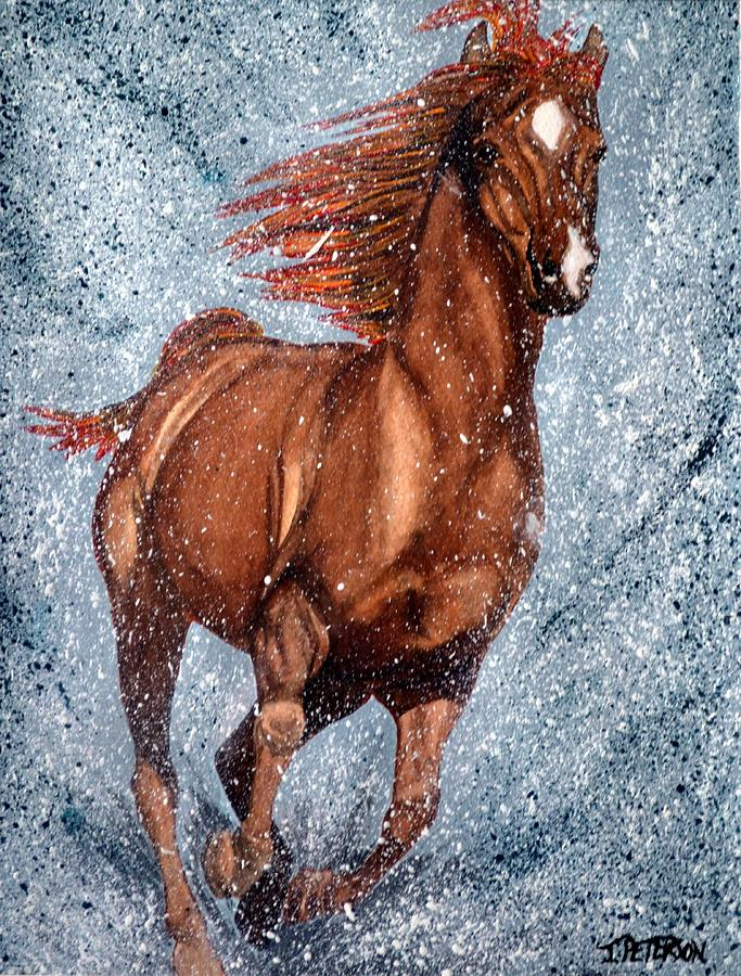 Horse Painting - Wildfire by Teresa  Peterson