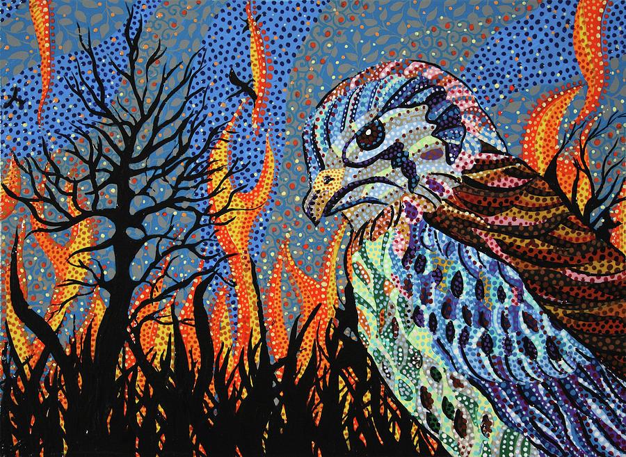 Wildfire Painting - Wildflire by Erika Pochybova