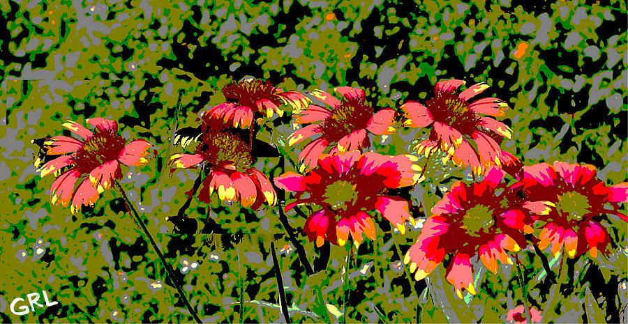 Contemporary Painting - Wildflowers IIi Florida Contemporayary Digital Art by G Linsenmayer