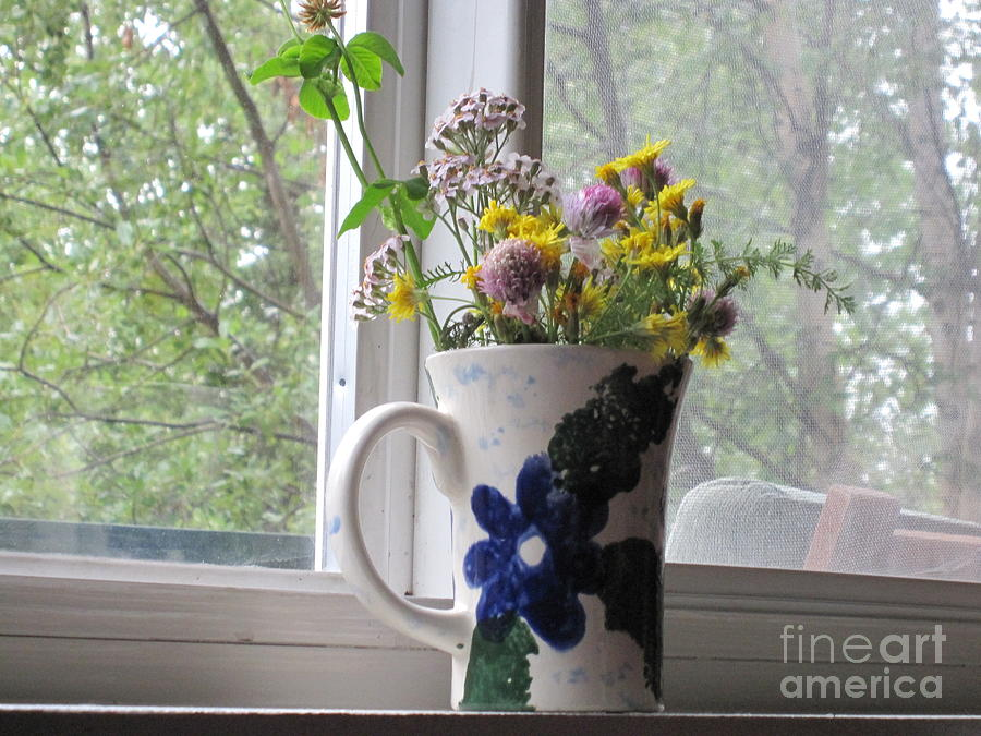 Wildflowers Photograph - Wildflowers In Vase by Elizabeth Stedman
