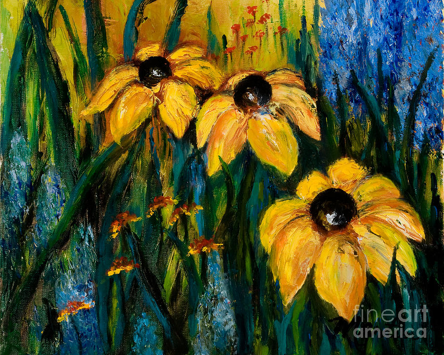Floral Painting - Wildflowers by Larry Martin
