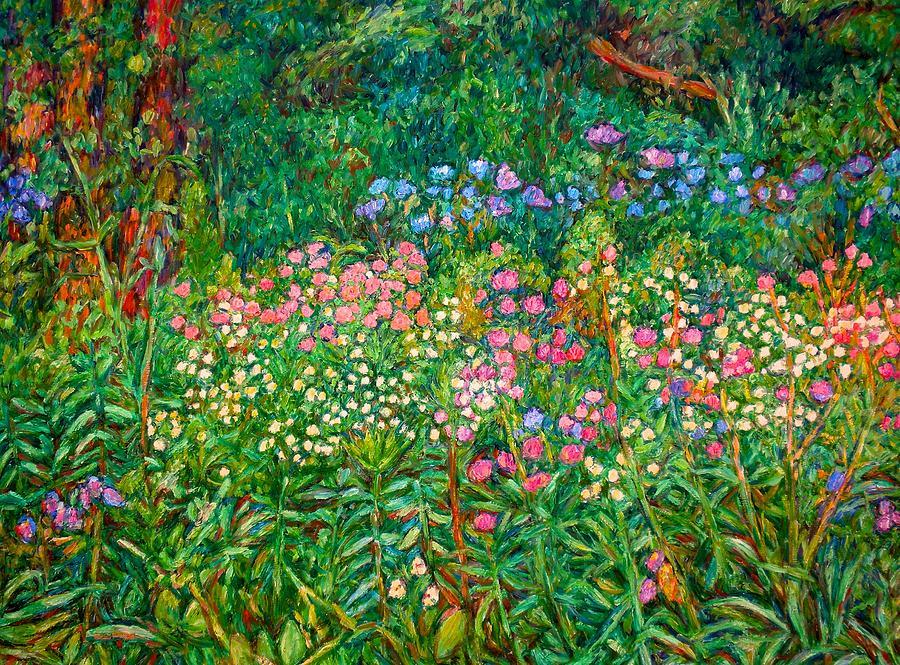 Floral Painting - Wildflowers Near Fancy Gap by Kendall Kessler