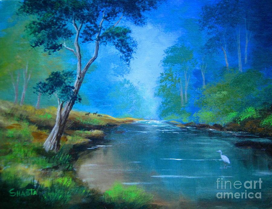 Landscape Painting - Wildlife  Habitat  by Shasta Eone