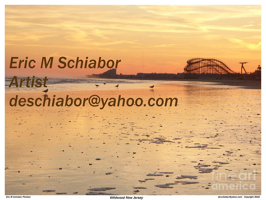 Wildwood Nj Photograph - Wildwood Sunset by Eric  Schiabor