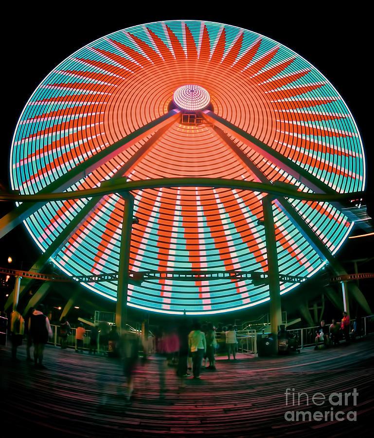 Giant Photograph - Wildwoods Giant Wheel by Mark Miller