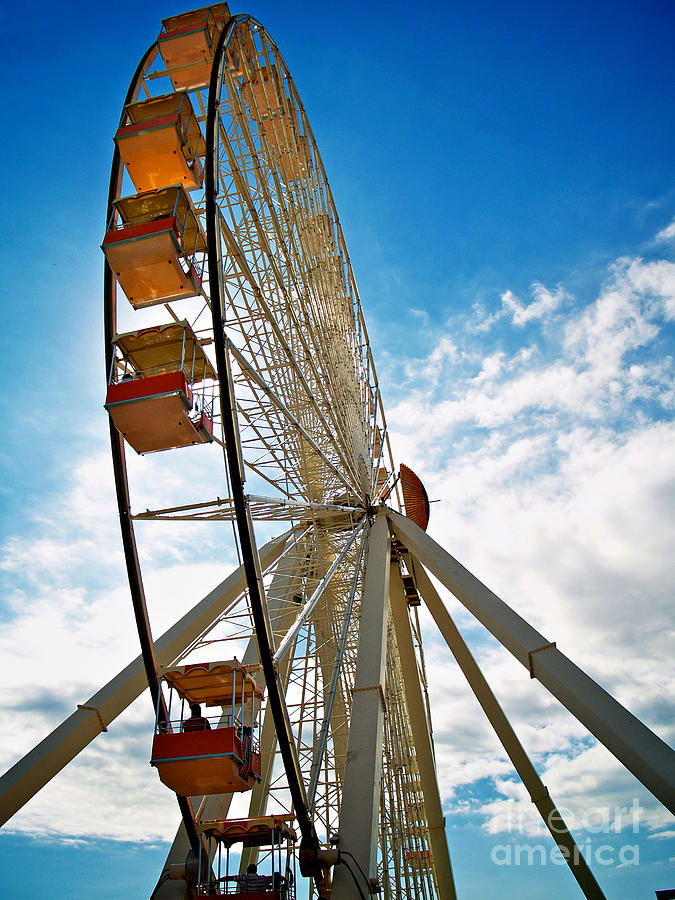 156 Foot Tall Photograph - Wildwoods Wheel by Mark Miller