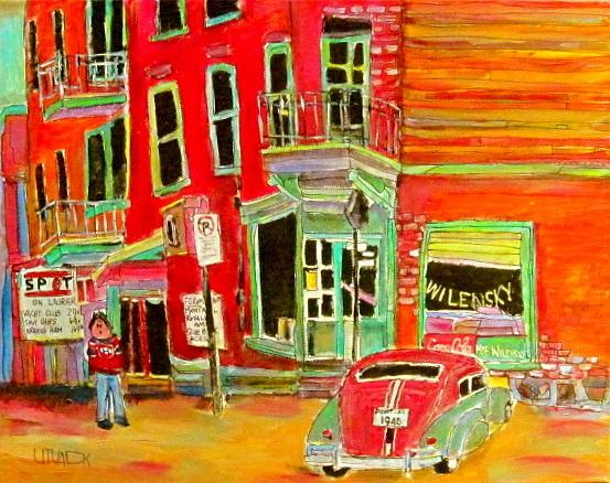 Montreal Painting - Wilensky Circa 1964 by Michael Litvack
