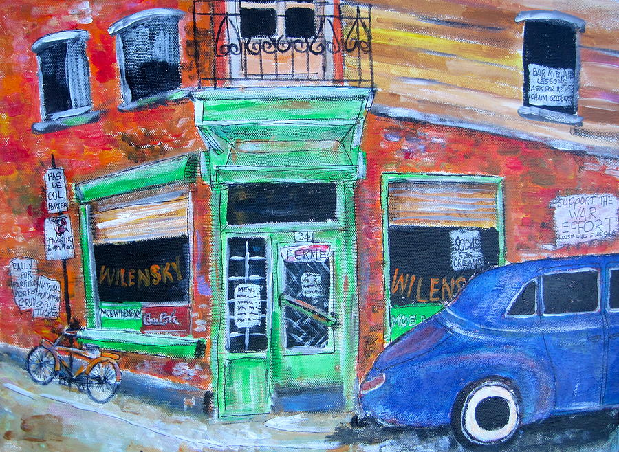Montreal Painting - Wilensky by Michael Litvack