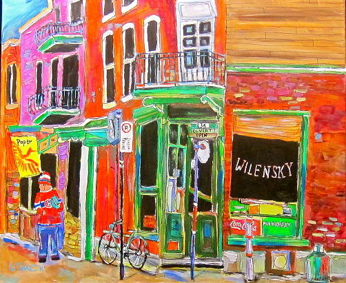 Montreal Painting - Wilensky Spring by Michael Litvack