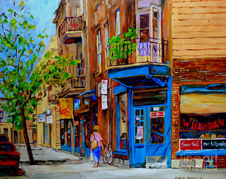 Montreal Painting - Wilenskys Diner And Snack Bar by Carole Spandau