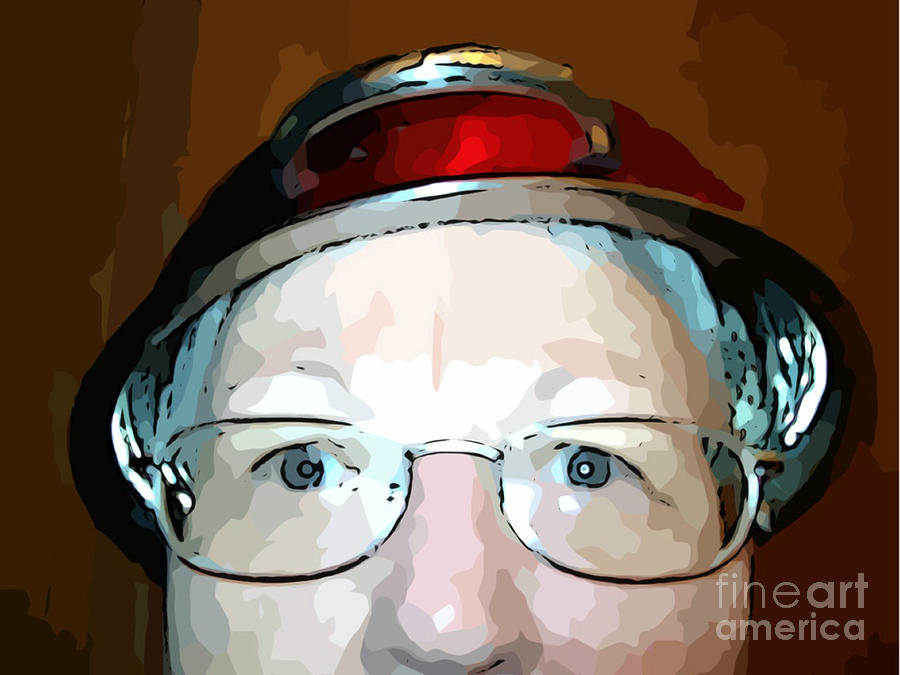 Mj Olsen Photograph - Will The Red Hat Society Accept Me? by MJ Olsen
