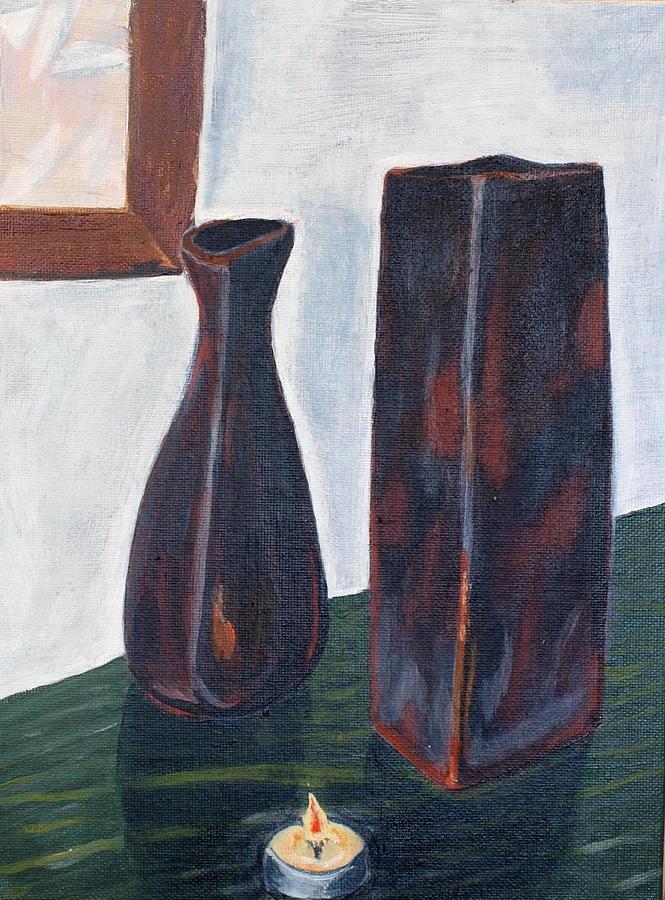 Vase Painting - Will Wait by Vera Lysenko