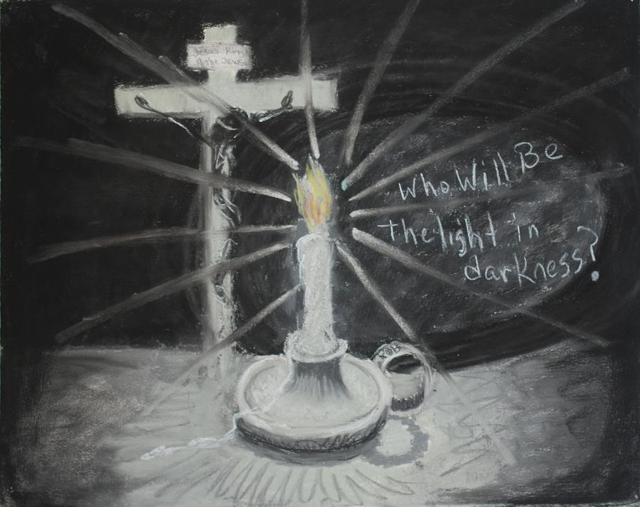 Will You Be The Light? Drawing by Shelia  Doebereiner