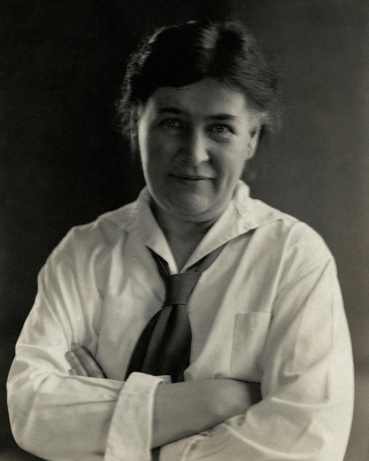 Willa Cather Wearing A Tie Photograph by Edward Steichen