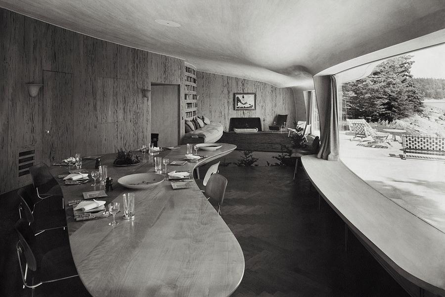 William A. M. Burdens Living Room Photograph by Tom Leonard