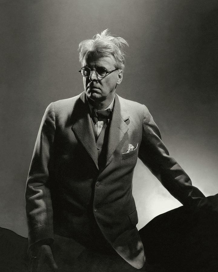 William Butler Yeats Wearing A Three-piece Suit Photograph by Edward Steichen