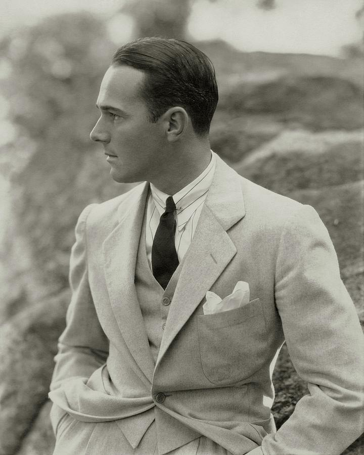 William Haines Wearing A Three-piece Suit Photograph by Edward Steichen
