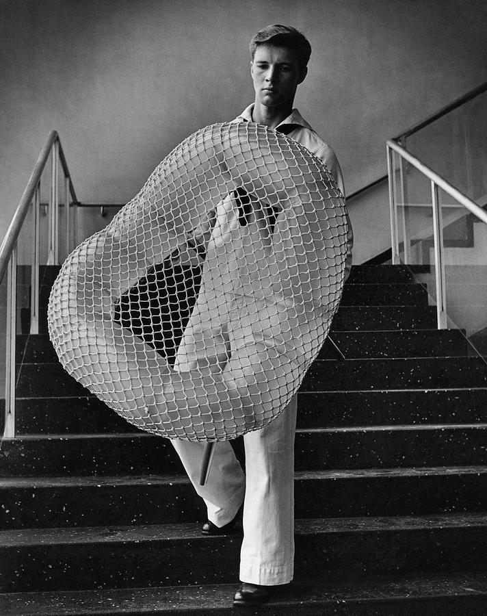 William Miller Holding A Chair Of His Design Photograph by George Karger
