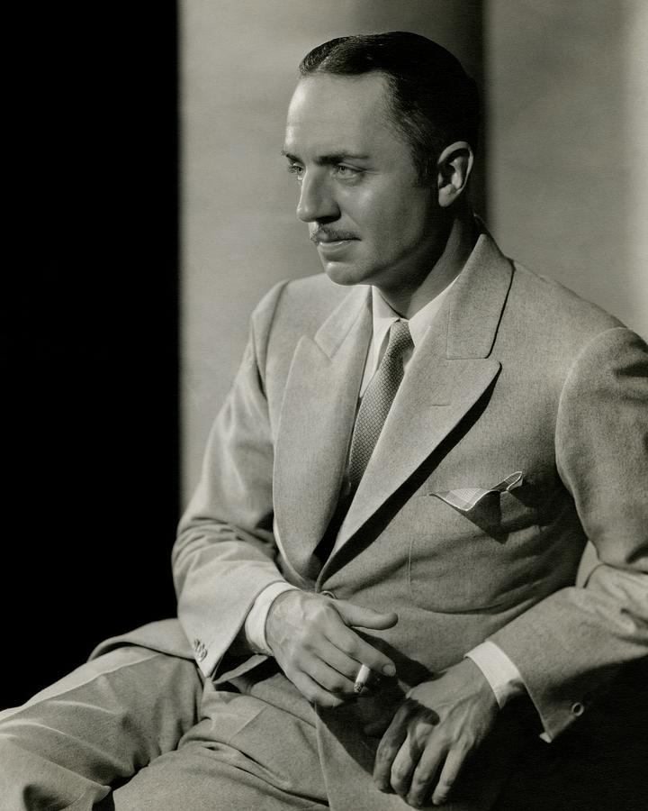 William Powell Wearing A Suit Photograph by Barnaba