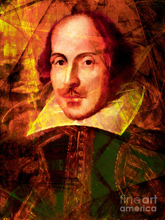 Celebrity Photograph - William Shakespeare 20140122 by Wingsdomain Art and Photography