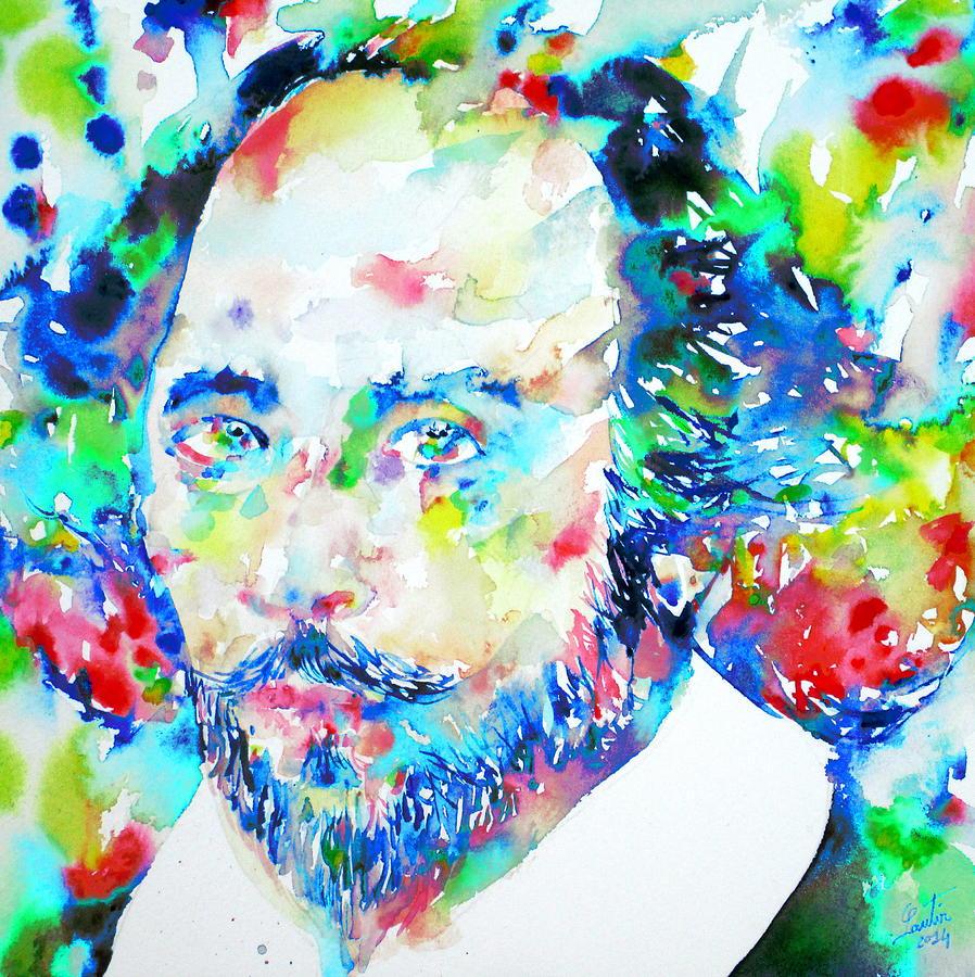 William Shakespeare Painting - WILLIAM SHAKESPEARE - watercolor portrait by Fabrizio Cassetta