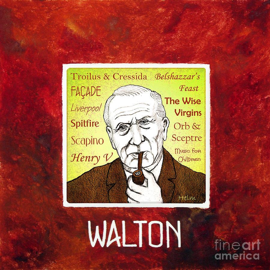 Walton Mixed Media - William Walton by Paul Helm