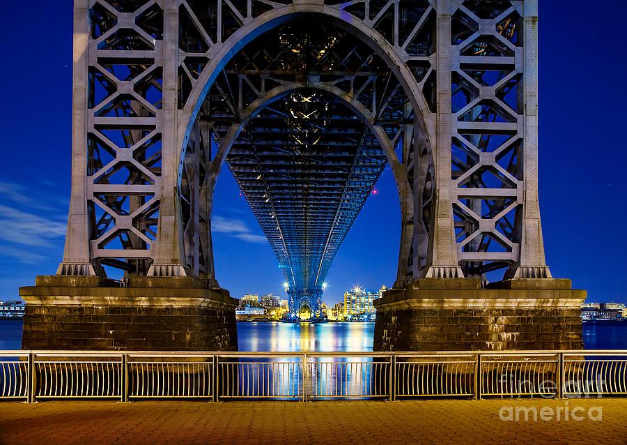 Williamsburg Bridge Photograph - Blue Punch by Az Jackson