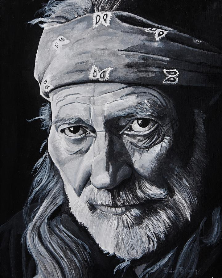 Willie Nelson Painting - Willie  by Brian Broadway