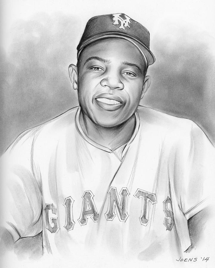 Willie Mays Drawing