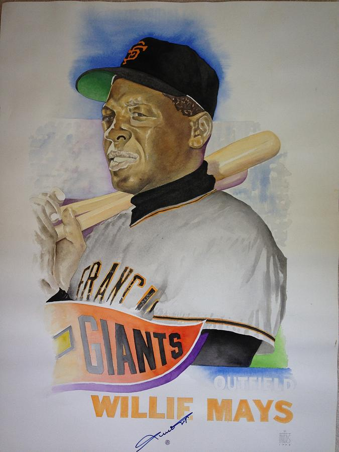 San Francisco Giants Painting - Willie Mays by Robert  Myers