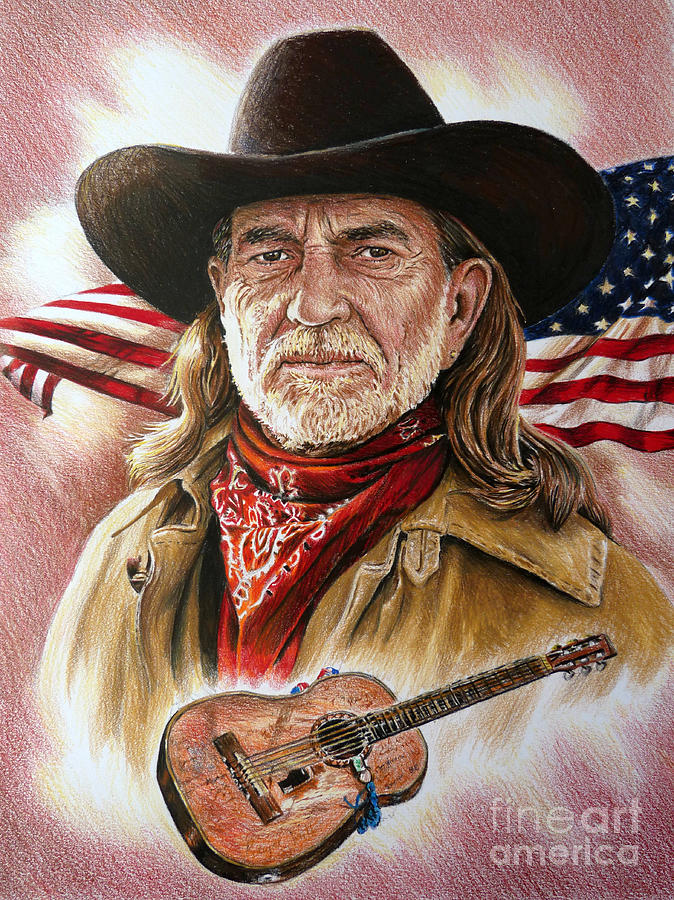 Willie Nelson American Legend Painting By Andrew Read