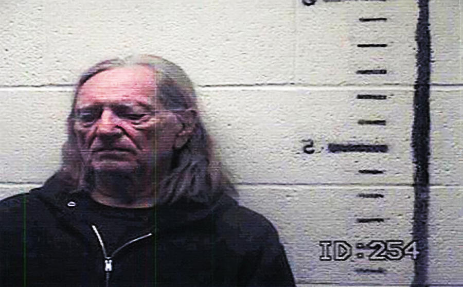 Willie Photograph - Willie Nelson Mugshot by Bill Cannon