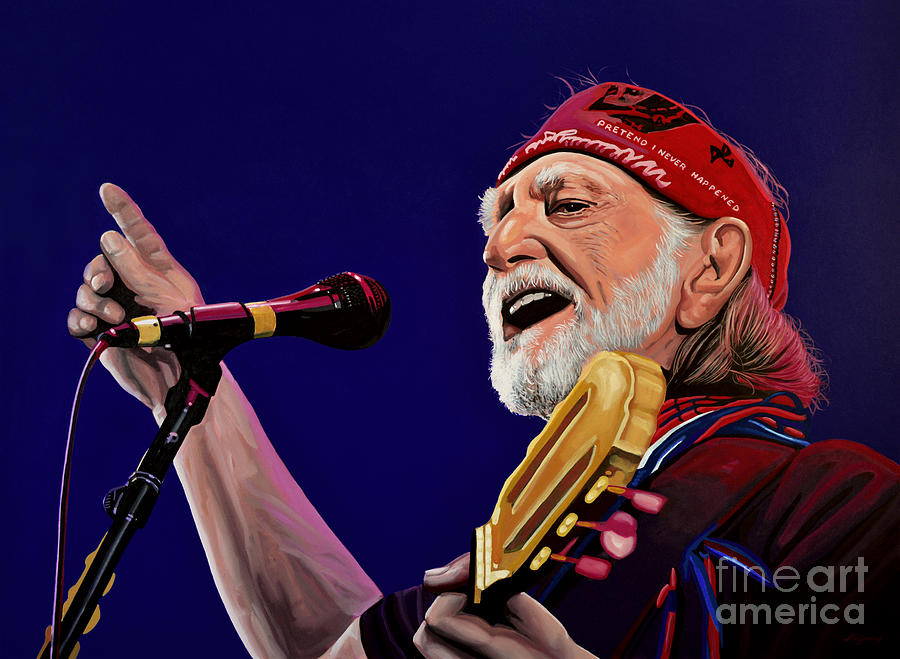 Willie Nelson Painting - Willie Nelson by Paul Meijering