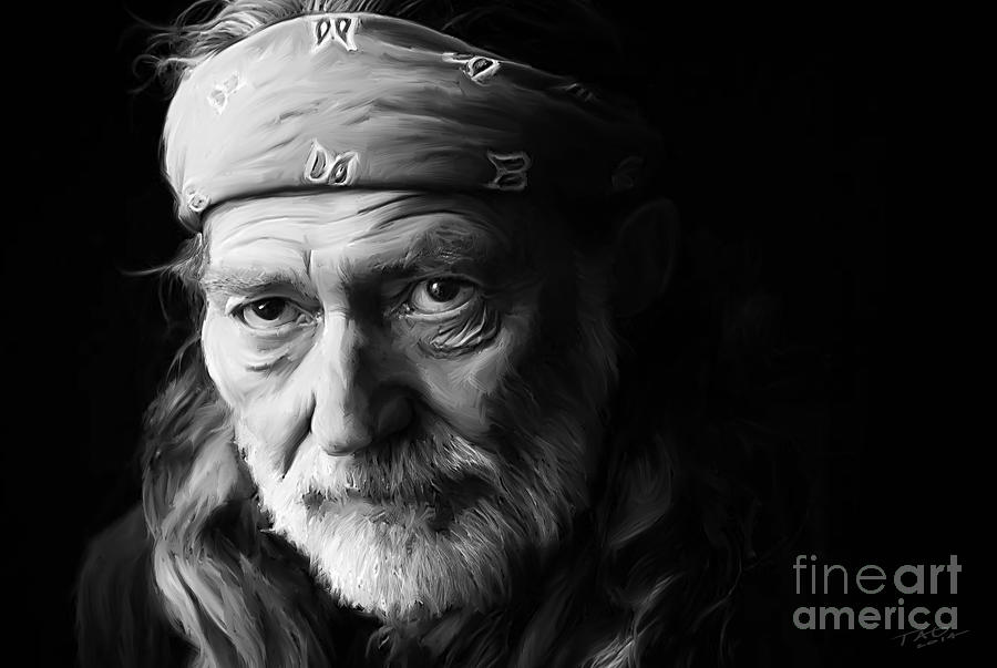 Willie Nelson Painting - Willie Nelson by Paul Tagliamonte