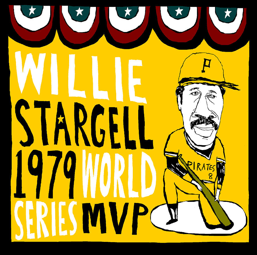 Willie Stargell Painting - Willie Stargell Pittsburgh Pirates by Jay Perkins