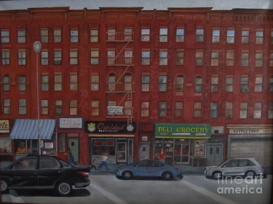 New York City Painting - Willis Avenue Tenements by Karen Olson
