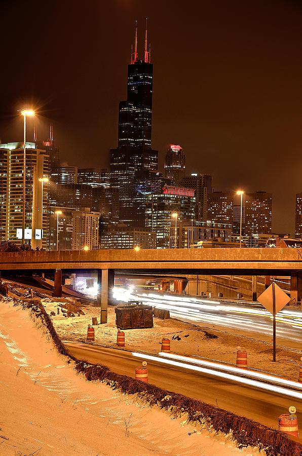 Willis Photograph - Willis Tower Chicago Winter 2014 by Michael  Bennett