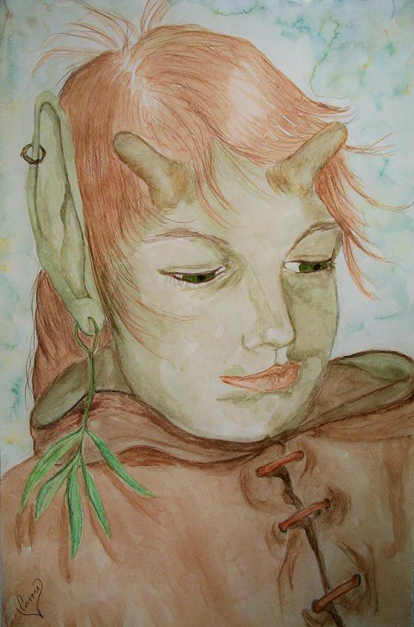 Faerie Painting - Willow by Carrie Viscome Skinner