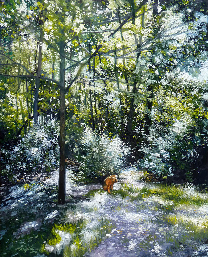 Dog Painting - Willow by Gregg Hinlicky