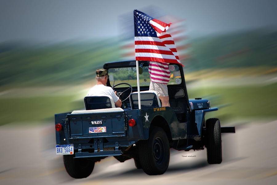 Willy Photograph - Willy Jeep From The 32nd Air Defense by Thomas Woolworth