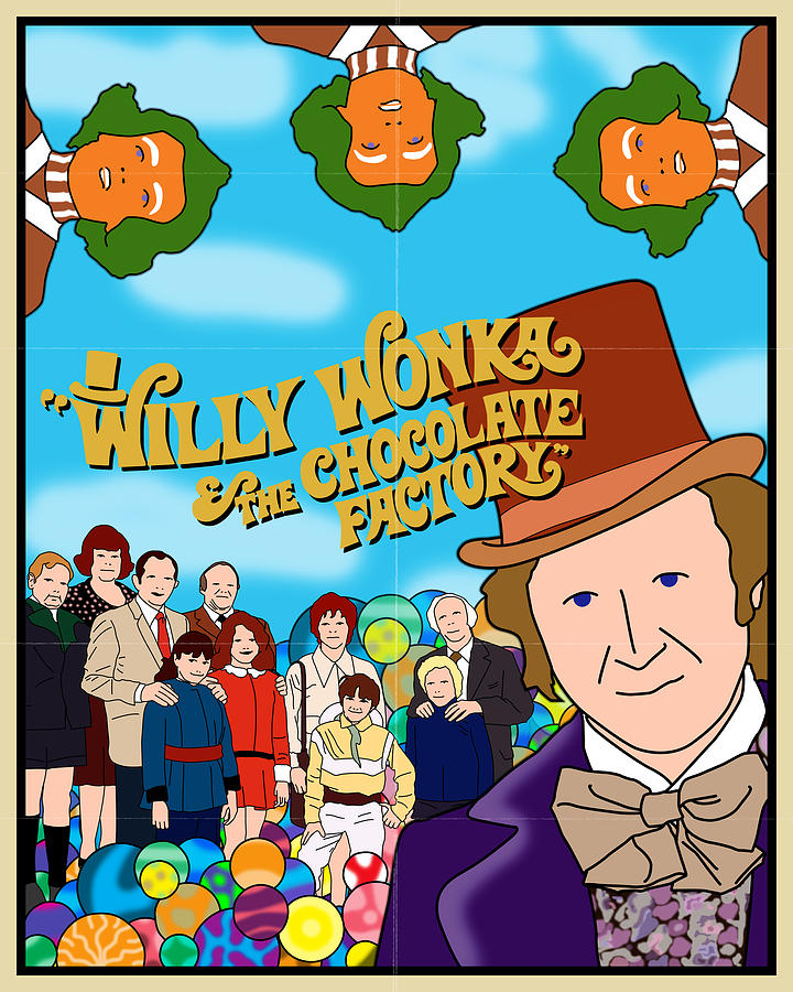 willy wonka and the chocolate factory movie poster digital