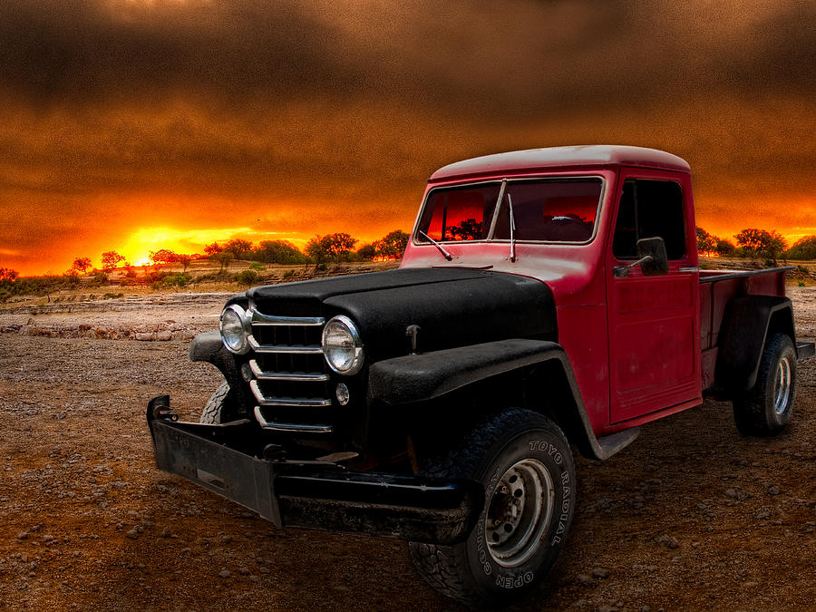Willys Hot Rod >> Willys Jeep Pickup Rat Rod Photograph by Chas Sinklier