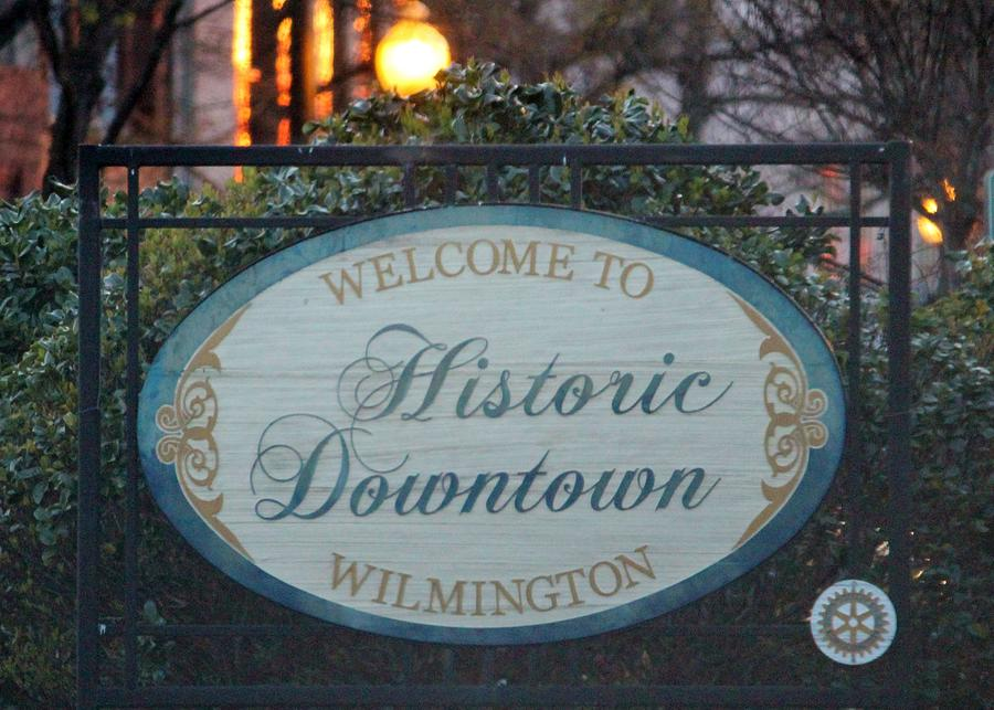 Sign Photograph - Wilmington Sign by Cynthia Guinn