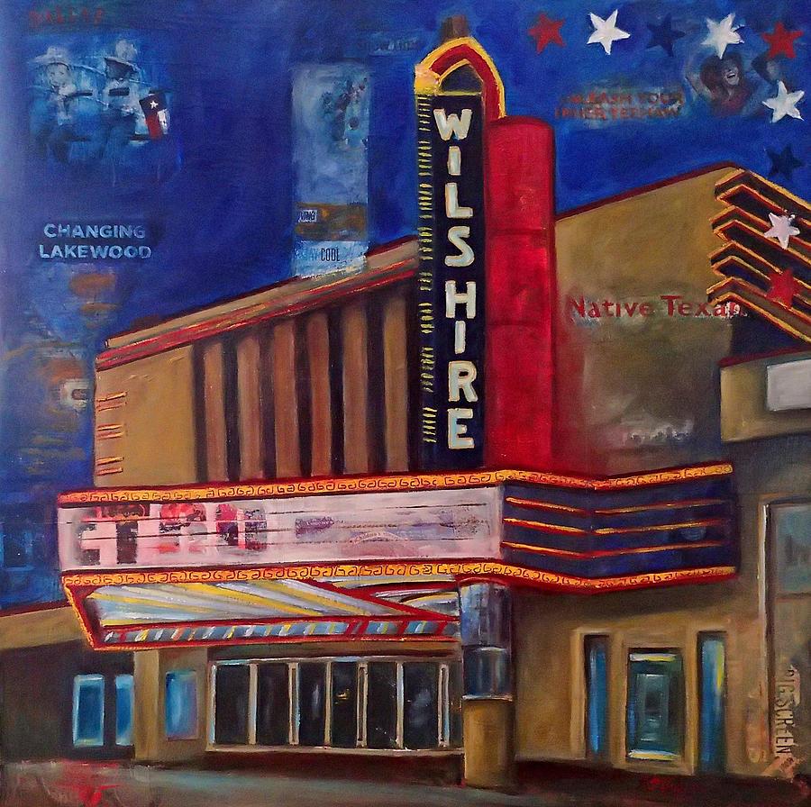 Wilshire Mixed Media - Wilshire Theater by Katrina Rasmussen