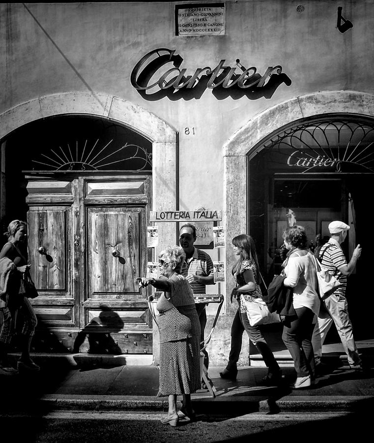 Italy Photograph - Win Lotto Buy Cartier by Karen Lindale