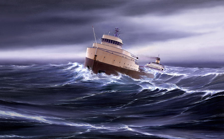 Wind And Sea Astern Painting By Captain Bud Robinson